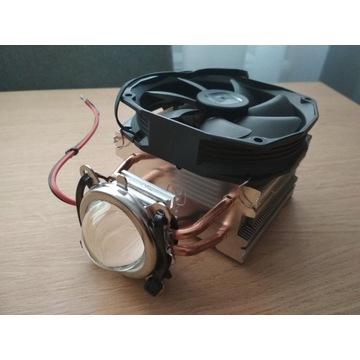 COB LED 100W chłodzenie soczewka przetwornica
