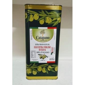 100% włoska oliwa z oliwek Extra Vergine puszka 5l