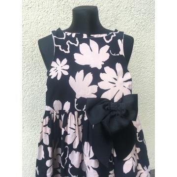 Sukienka w kwiaty z kokardą Next 8 lat