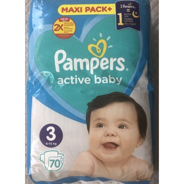 Pampers 3 active baby - 70 szt.