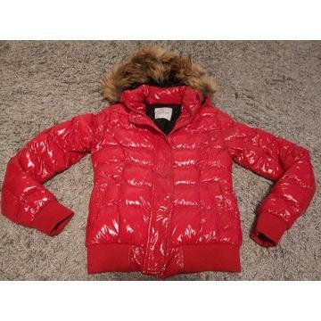 MONLER kurtka zimowa czerwona XS/S jenot