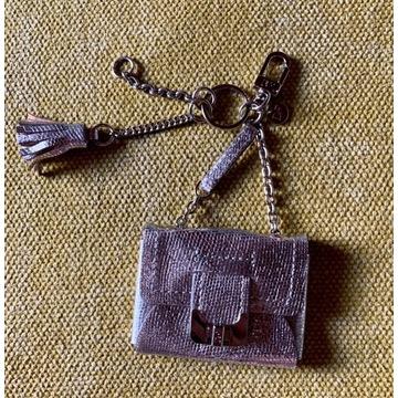 torebka torebeczka mała brelok zawieszka srebrna
