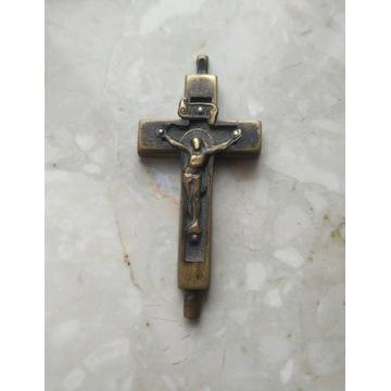 Krzyż. Relikwiarz. Mosiądz. Nie otwierany. XIX w.