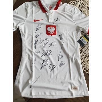 Koszulka reprezentacji Polski z podpisami Nike