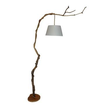 Lampa Feather-Lampa podłogowa z gałęzi, drewna