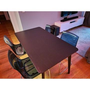 Stół LISABO, 4 x Krzesło TOBIAS