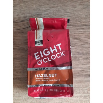 Kawa eight o'clock orzechowa hazelnut ziarna 311g