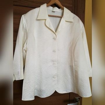 wizytowa bluzka ecru 4xl