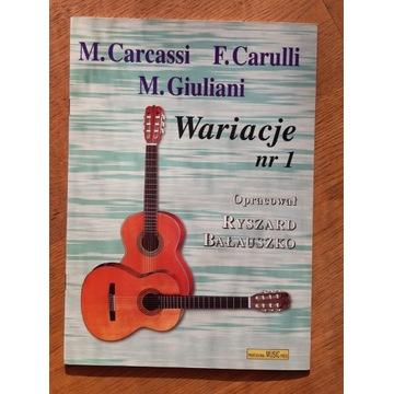 Carcassi, Carulli, Giuliani - wariacje na gitarę