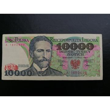 10000 ZŁOTYCH 1987 WYSPIAŃSKI SERIA ładny