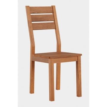 Krzesło dębowe - siedzisko drewniane - dąb dziki