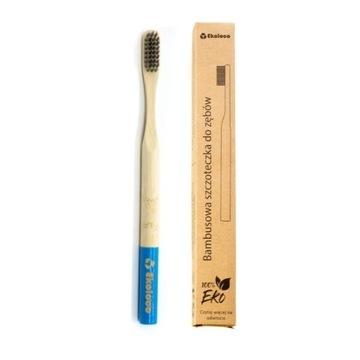 Bambusowa szczoteczka do zębów eko miękka niebiesk