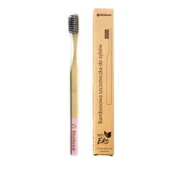 Bambusowa szczoteczka do zębów eko miękka różowa