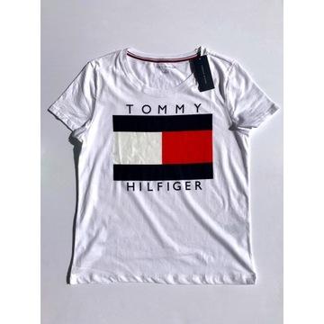 T-shirt koszulka Tommy Hilfiger biała rozm S NOWA