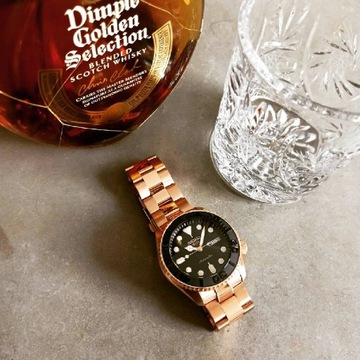 Seiko 5 SRPD76K1 - All Rose Gold Root Beer mod