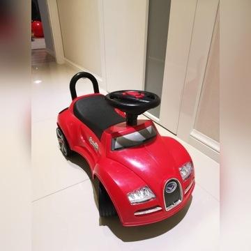Jeździk pchacz auto dla dzieci Bugatti gumowe kola