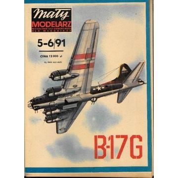 Mały Modelarz 5-6 1991 B-17G 1:50 model kartonowy