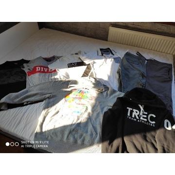 Komplet ubrań/koszulki,bluzy/spodnie/kurtki/skóra