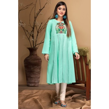 Nowa indyjska sukienka tunika S 36 M 38 zielona tu
