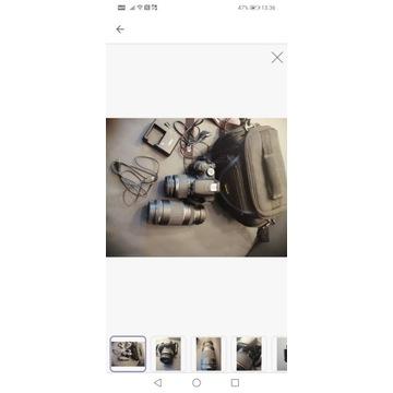 Lustrzanka Canon EOS1200D + 2 obiektywy