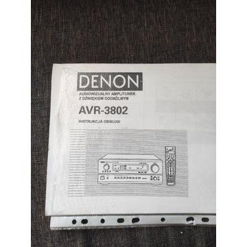 Denon AVR-3802 instrukcja PL