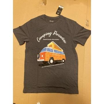 T-shirt, koszulka, VW T2 Ogórek, Garbus, Camping