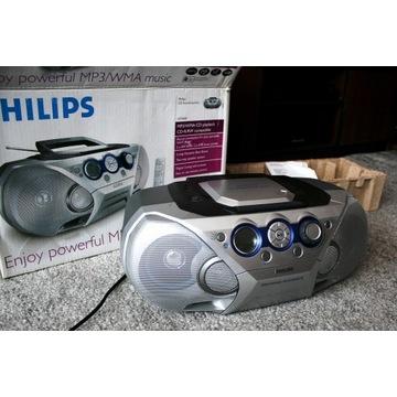 Magnetofon CD Comact disc mp3 AUX głośniki bumbox