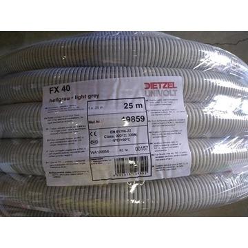 Rura karbowana PESZEL FX 40/33 320N  UNIVOLT 1mb