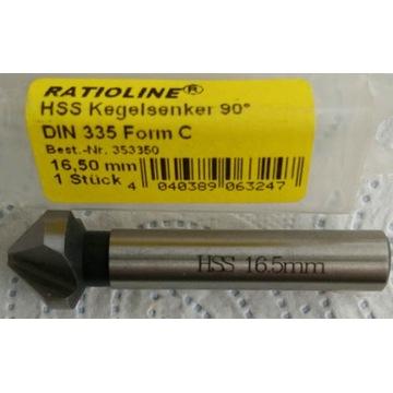 Pogłębiacz stożkowy 16,5/90 DIN 335 C HSS