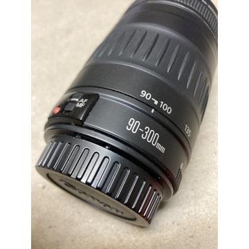 Obiektyw Canon EF 90-300 plus osłona przeciwsłon.