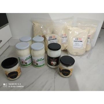 Pasta kokosowa olej kokosowy mleko kokosowe
