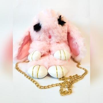 Modny plecak plecaczek różowy króliczek