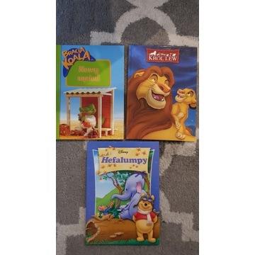 Książki Bracia Koala Król Lew Kubuś i Hefalumpy