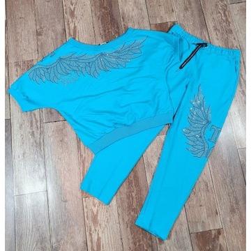 Dres komplet damski niebieski ze skrzydłami TATU