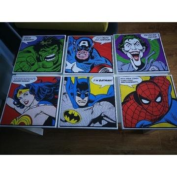 0brazki Batman, Spiderman, Hulk, Wonder Woman,
