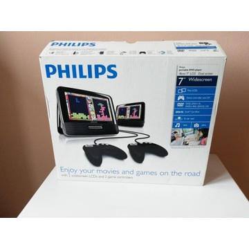 Philips portable DVD player LCD Dual screen
