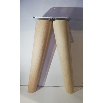 Nogi nóżki drewniane bukowe H- 25 cm Skośna
