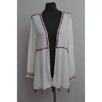 Narzutka, cardigan , bluzka boho rozmiar L