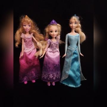 Elza, Roszpunka, Kopciuszek 3 lalki Barbie