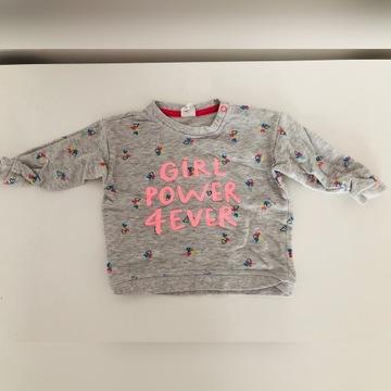 H&M bluza dla dziewczynki szara 80