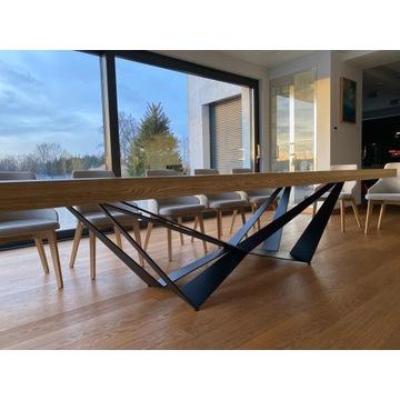 Stół industrialny drewniany lite drewno nowoczesny