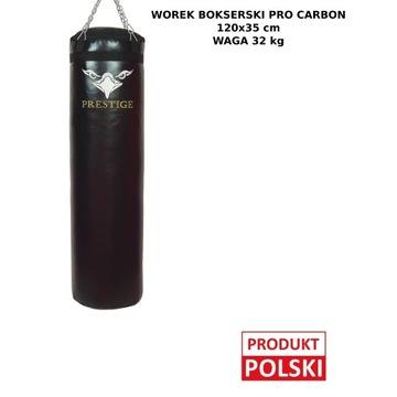 WOREK BOKSERSKI PREMIUM CARBON 120x35 PEŁNY 32KG