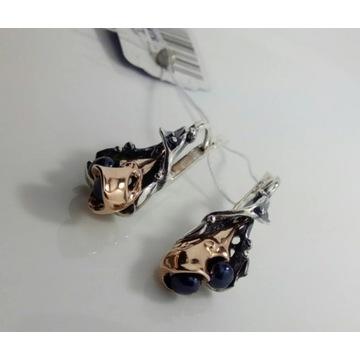 Nowe z metką srebrne kolczyki z perłami