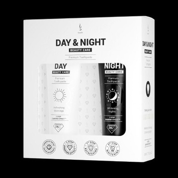 Zestaw past do zębów DuoLife Day & Night Beauty