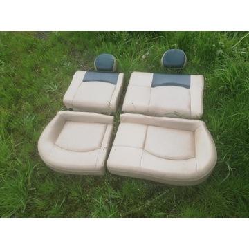 Fotele i kanapa biała skóra Peugeot 206 rg