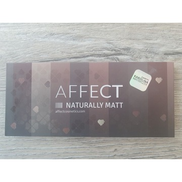 Affect naturally mat paleta cieni do oczu