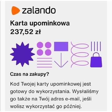 Kartka upominkowa kod do Zalando. Za 199 zł.