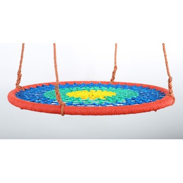 Huśtawka bocianie gniazdo 90 cm Kolorowa