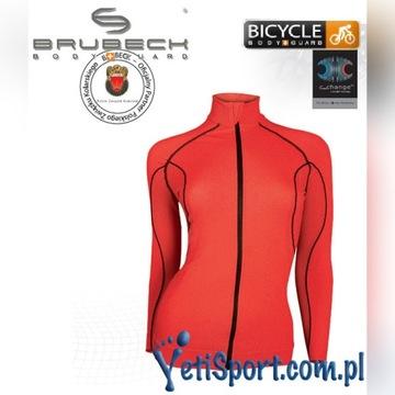 Brubeck bluza z membraną damska czerwona r. M