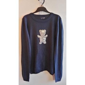 Granatowy sweterek Endo 146